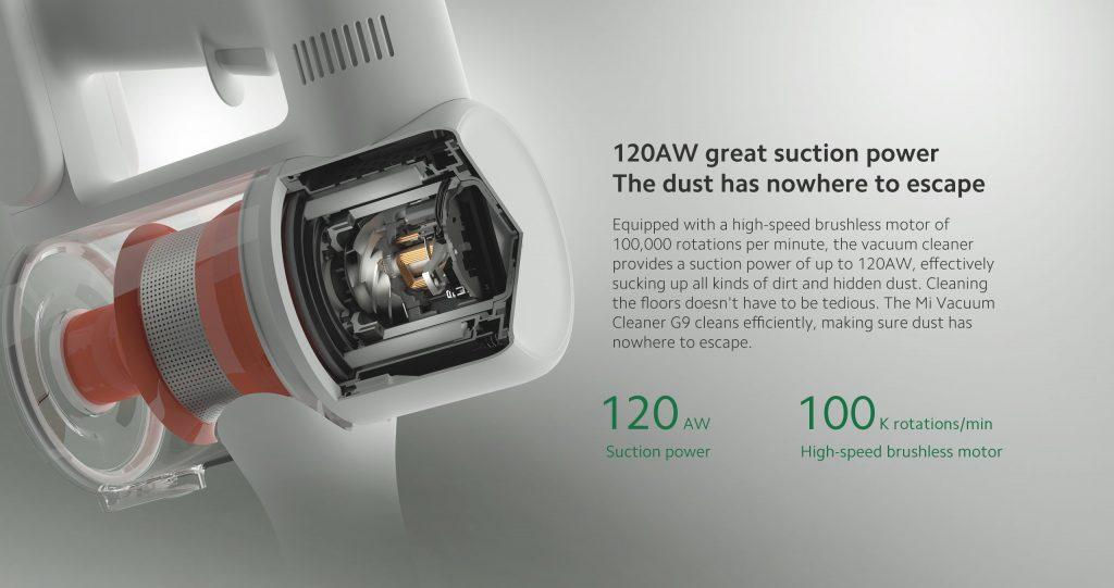 Xiaomi Mi Vacuum Cleaner G9 - tyčový vysavač