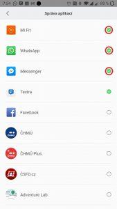 Zvolte aplikace, z nichž chcete dostávat notifikace