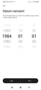 Datum narození