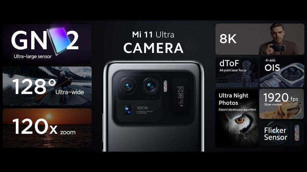 Parametry foťáků Xiaomi Mi 11 Ultra