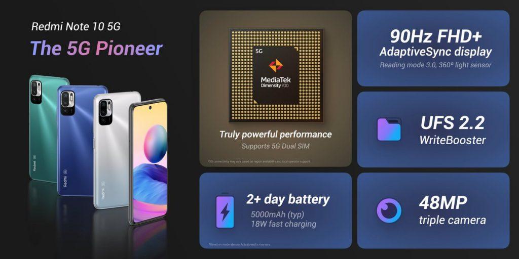 Redmi Note 10 5G v kostce