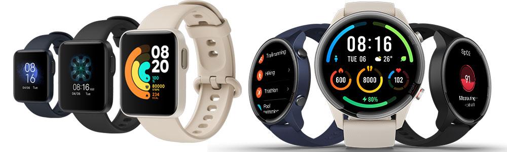 Rozdíly: chytré hodinky Xiaomi Mi Watch vs. Xiaomi Mi Watch Lite