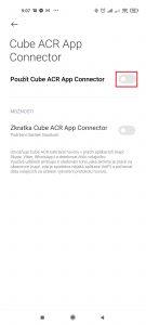 Aktivujte volbu Použít Cube ACR App Connector