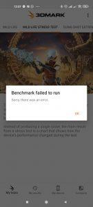 Benchmark nebyl dokončen