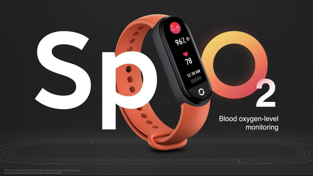 Chytrý náramek Xiaomi Mi Band 6 umí měřit SpO2