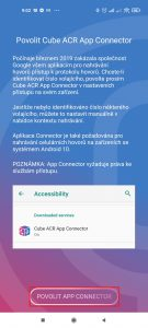 Klepněte na Povolit App Connector