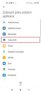Otevřete Cube ACR
