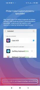 Přidat Cube k automatickému spouštění