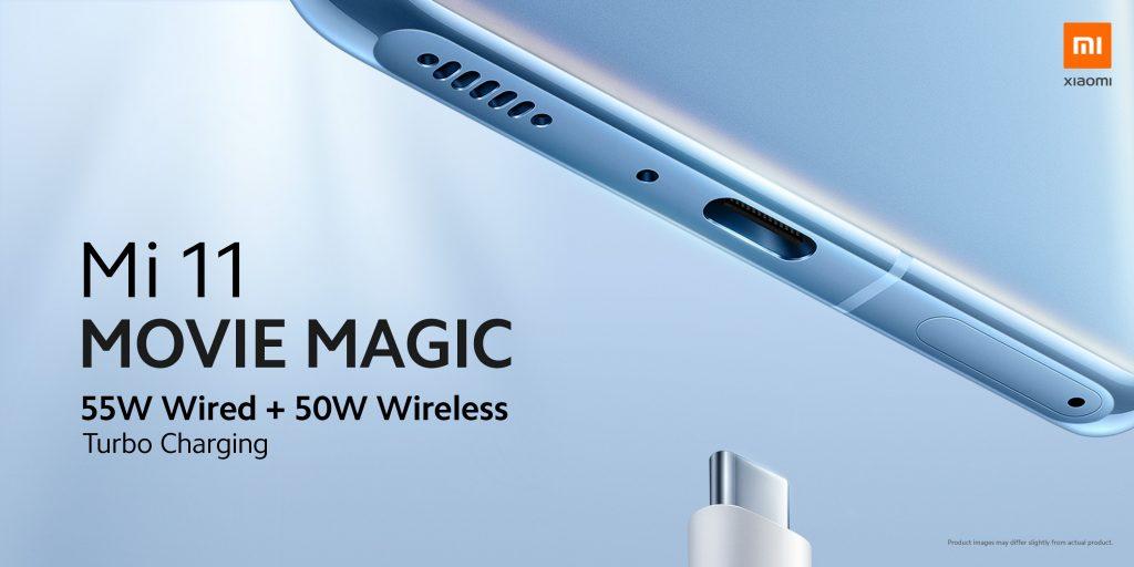 Rychlé nabíjení 55 W kabelem a 50 W bezdrátově