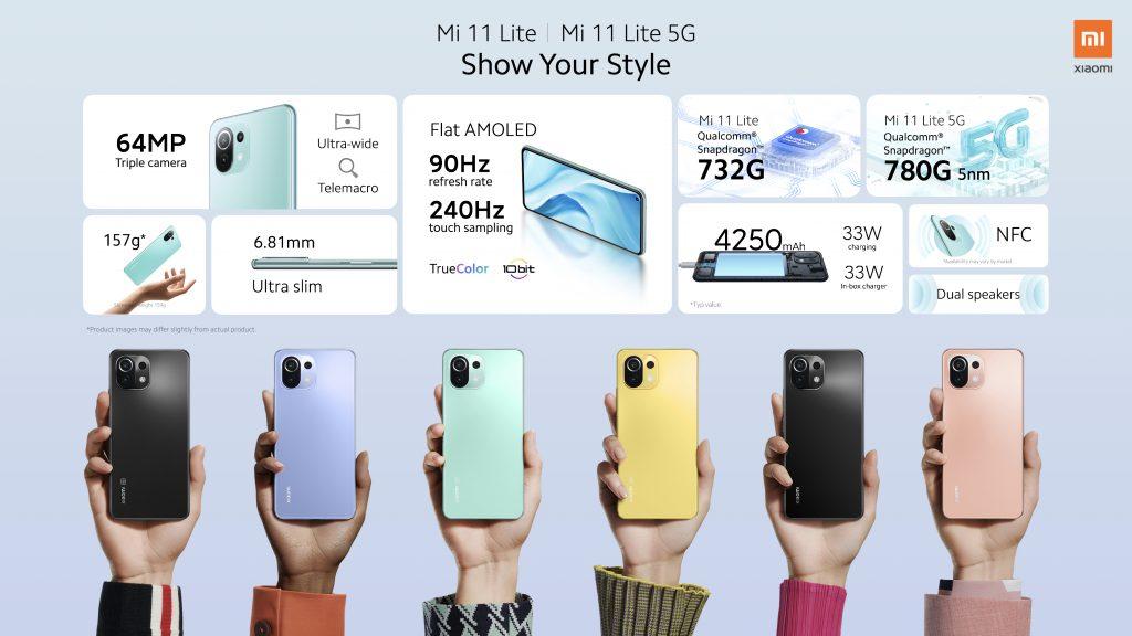 Telefony Xiaomi Mi 11 Lite a Xiaomi Mi 11 Lite 5G