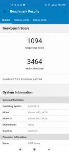 Výsledky Xiaomi Mi 11 v Geekbench 5
