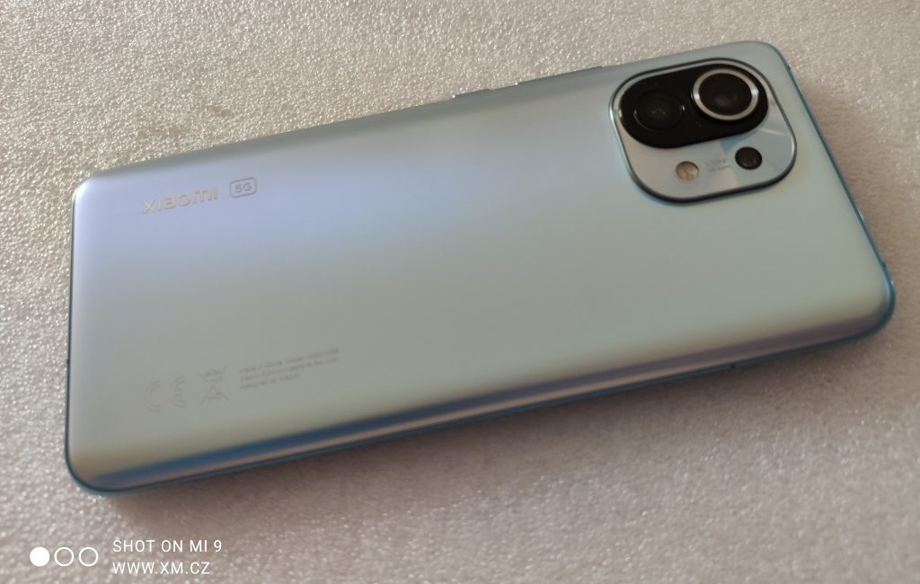 Zadní strana Xiaomi Mi 11