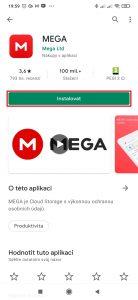 Nainstalujte si aplikaci MEGA