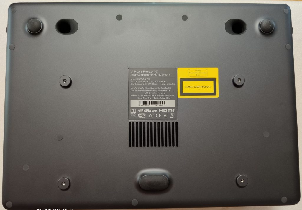 Projektor zespodu