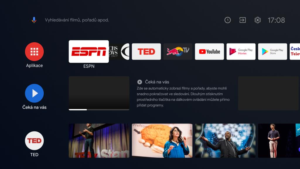 Prostředí Android TV