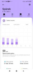 Takto měří spánek hodinky Xiaomi Mi Watch