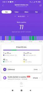 Takto měří spánek náramek Mi Band 6