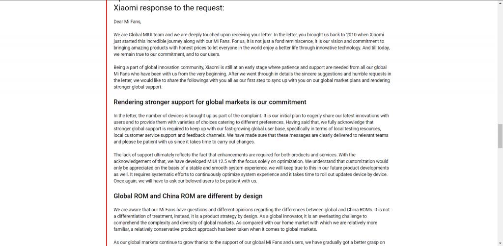 Xiaomi slibuje zlepšení podpory