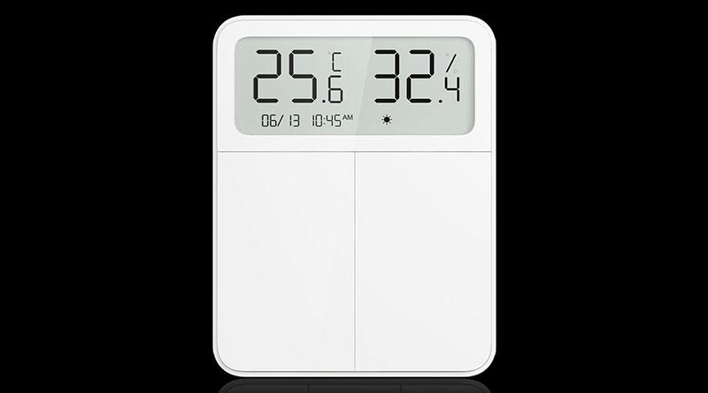 Xiaomi Mijia Screen Display Switch: chytrý vypínač změří teplotu a vlhkost