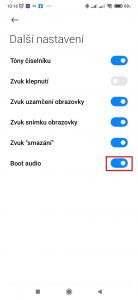 Boot audio