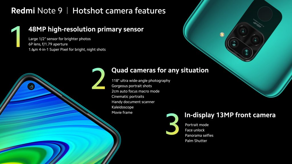 Fotoaparáty Redmi Note 9