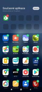 Přidávání aplikací do nabídky