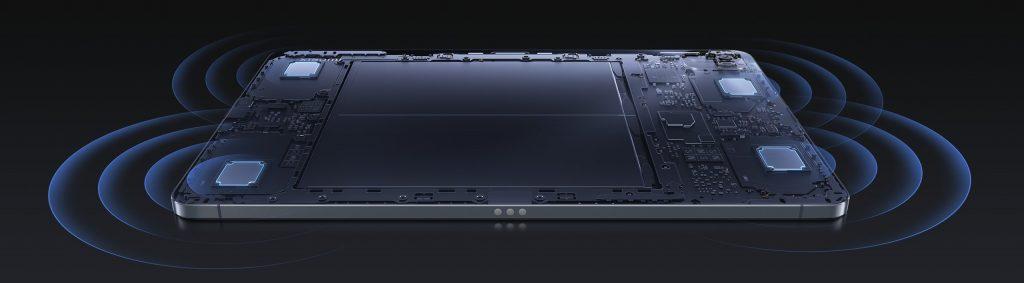 Čtyři reproduktory tabletu Xiaomi Pad 5