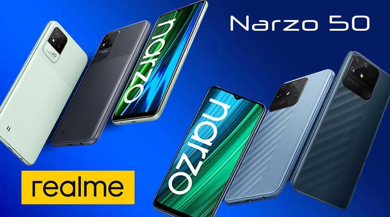Telefony Realme Narzo řady 50, televize a náramek představeny