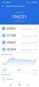 Redmi 10 v benchmarcích - benrchmark AnTuTu