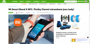 Mi Smart Band 6 NFC: Platby Xiaomi náramkem jsou tady!
