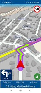 Navigace v aplikaci MapFactor Navigator
