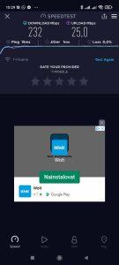 Test rychlosti Wi-Fi