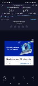 Test rychlosti v síti T-Mobile